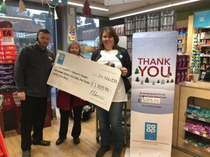 Cheque being presented